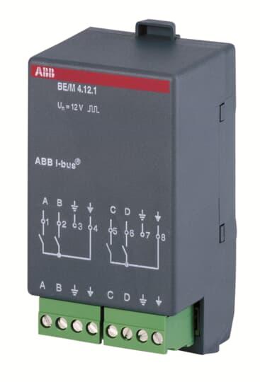 ABB BE/M4.12.1 Binäreingangsmodul, 4fach, Kontaktabfrage 2CDG110007R0011