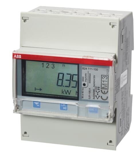 "ABB B24 111-100 Messwandlerzähler ""Stahl"", 3 Phasen, Wandleranschluss 6A 2CMA100177R1000"