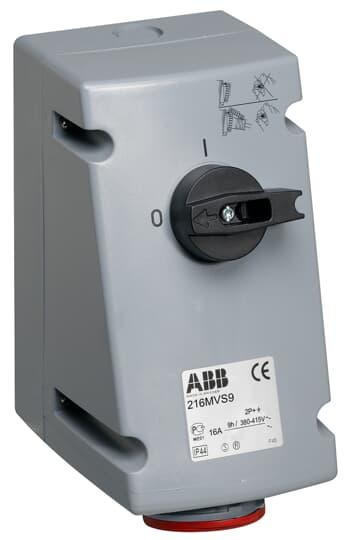ABB 216MVS9 Schaltbare Wandsteckdose, 16 A abschließbar und geschl. verriegelbar 2CMA167647R1000