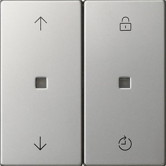 Gira S3000 Bedienaufs. Memory System 55 Edelstahl 5363600