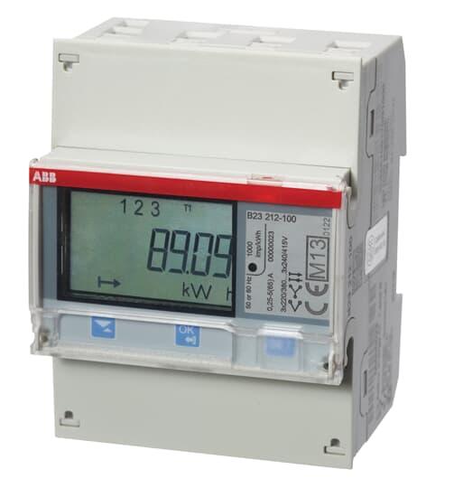 """ABB B23 212-100 Drehstromzähler, RS485 """"Bronze"""", 3 Phasen, Direktanschluss 65A 2CMA100166R1000"""