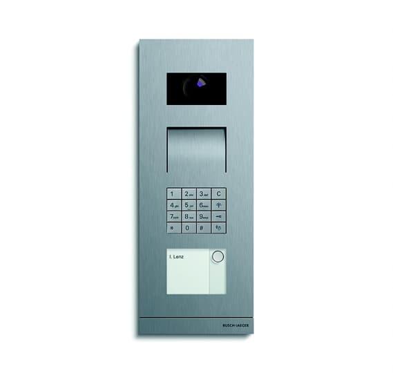 Busch Jäger Außenstation Video 1-fach mit Tastatur-Modul Frontplatte Edelstahl, Oberfläche gebürstet 2CKA008300A0422