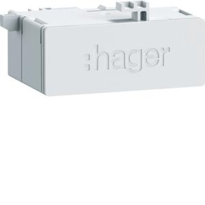 Hager RJ45-Buchse Patch/Patch 180° für WAN ZZ45WAN2PP