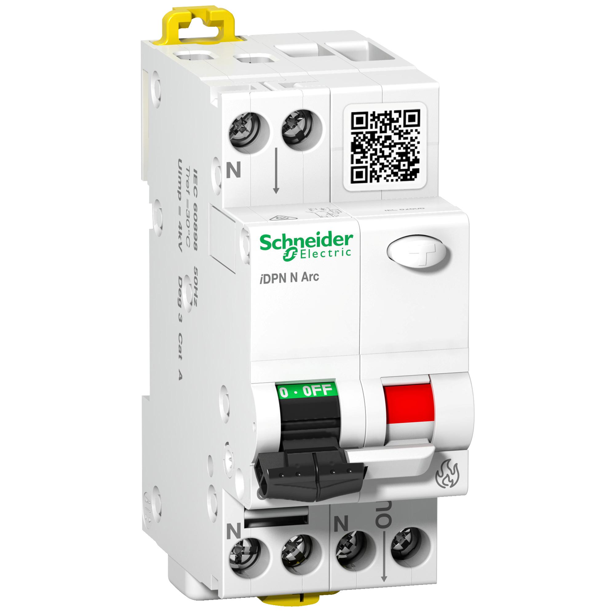 Schneider Electric Brandschutzschalter (AFDD) + LS, iDPN N Arc, 1P+N, 16A, B-Charakteristik A9FDB7616