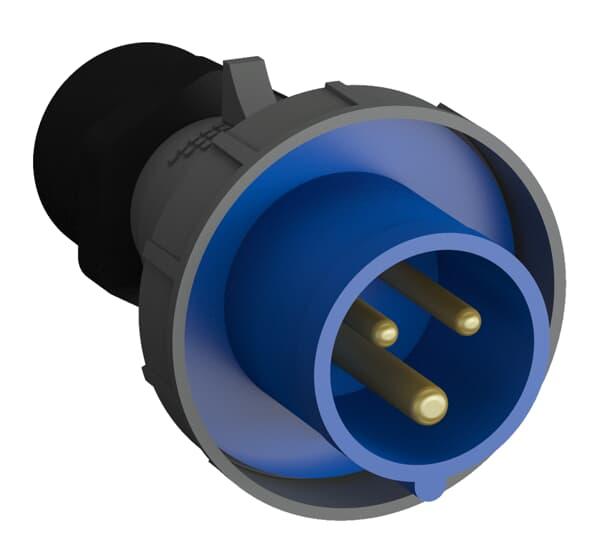 ABB 216QP6W CEE-Stecker 16A 2P+E 6h IP67 2CMA102296R1000