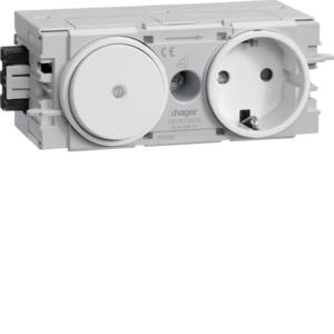 Hager Steckdose+Schalter Wago C-Profil rw GS11009010