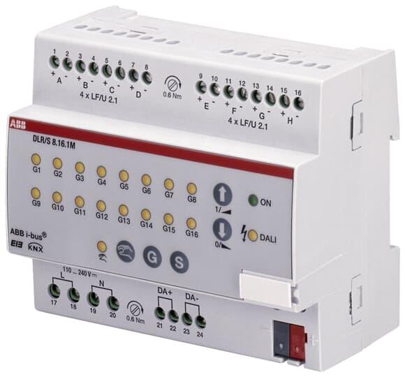 ABB DLR/S8.16.1M DALI-Lichtregler, 8fach, manuelle Bedienung, REG 2CDG110101R0011