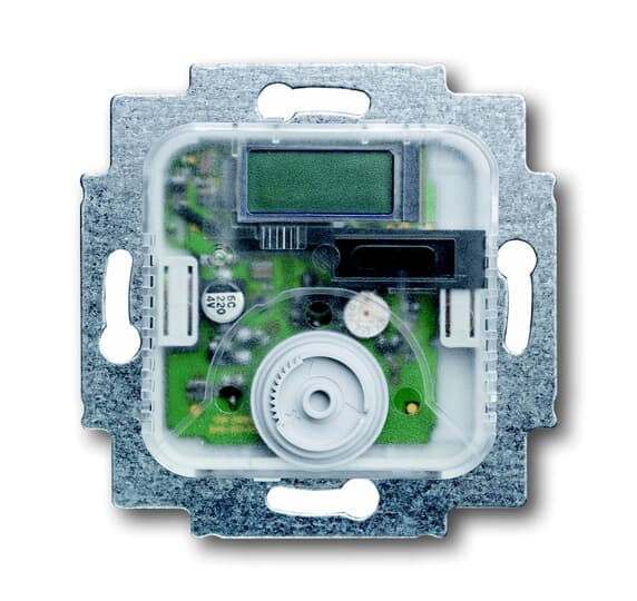 Busch-Jaeger 1096 UTA | El. Raumtemperaturregler UP Schiebeschalter, Istwert-Anzeige, 24 V