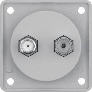 Berker Antennen Verbinderdose Radio/SAT ITG gr 945602506