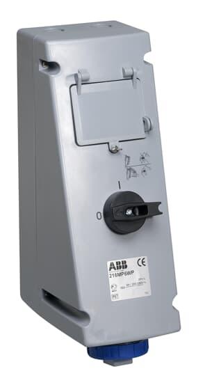 ABB 216MP6WP Schaltbare Wandsteckdose für die Aufnahme von Schutzgeräten 2CMA162878R1000