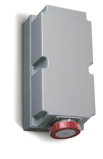 ABB 2125RL6W CEE-Aufputz-Wandsteckdose, 125 A 6h, IP67, 2P+E, 200-250 V, 60 Hz, blau 2CMA168527R1000