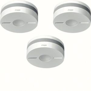 Hager Funk-Rauchwarnmelderset Q,3xTG550A,weiß TG553A