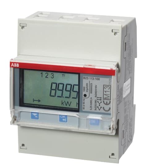 "ABB B23 113-100 Drehstromzähler, M-Bus ""Stahl"", 3 Phasen, Direktanschluss 65A 2CMA100165R1000"