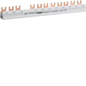 Hager Phasenschiene 3P Gabel 10mm² 63A 12M KDN363F