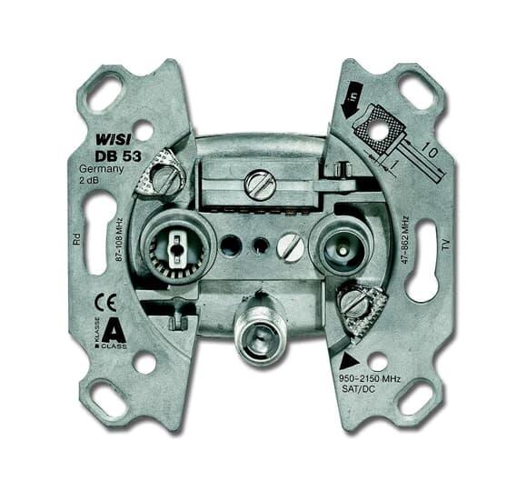Busch-Jaeger 0232-101 | Antennensteckdosen-Einsatz  Radio/TV/SAT 3 Anschlüsse/Stichdose