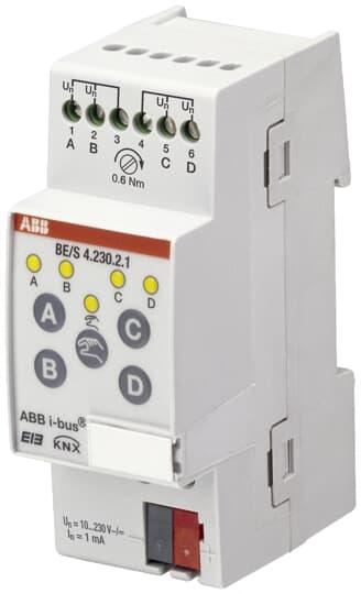 ABB BE/S4.230.2.1 Binäreingang, 4fach, 10-230 V, REG 2CDG110091R0011
