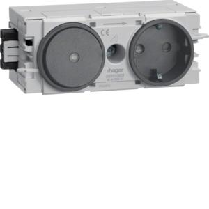 Hager Steckdose+Schalter Wago C-Profil gs GS11009011