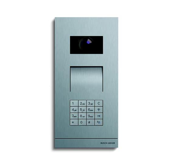 Busch Jäger Außenstation Video mit Tastatur-Modul Frontplatte Edelstahl, Oberfläche gebürstet 2CKA008300A0428