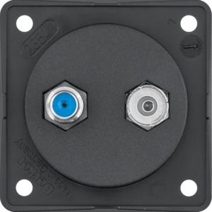 Berker Antennen-Verbinderdose Radio/SAT ITG sw 9456005