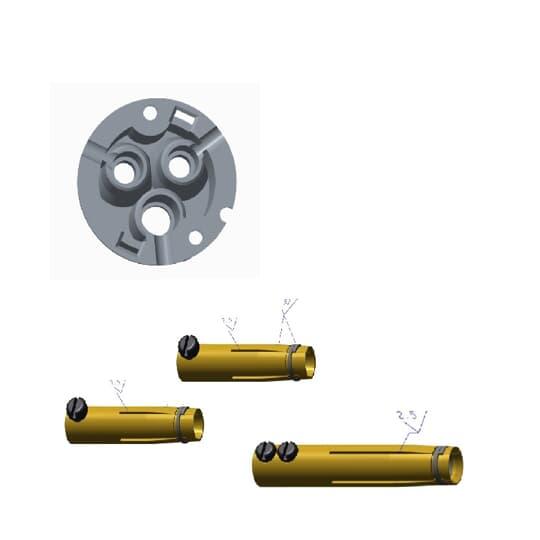 ABB 216MHS6 Dose komplett für Typ MHS mit Dose, Kontaktbuchsen und Schrauben 2CMA181711R1000