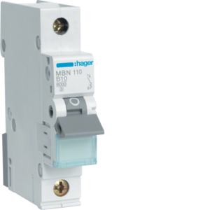 Hager LS-Schalter 1 polig 6kA B-10A 1M MBN110