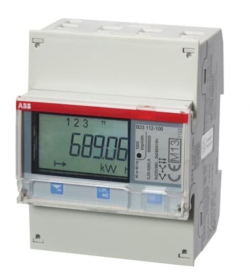 "ABB B23 112-100 Drehstromzähler, RS485 ""Stahl"", 3 Phasen, Direktanschluss 65A 2CMA100164R1000"