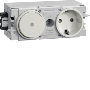 Hager Steckdose+Schalter Wago C-Profil cw GS11009001
