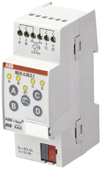 ABB BE/S4.20.2.1 Binäreingang, 4fach, Kontaktabfrage, REG 2CDG110090R0011
